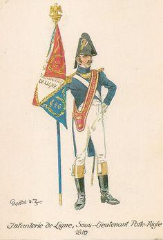 French; Line Infantry, Sous-Lieutenant Porte-Aigle, 1810