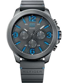 Tommy HILFIGER Landon Multifunction Black Rubber Strap