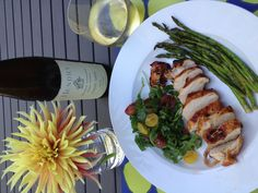 ponzu marinated Rocky (organic) chicken breast & 2010 Hendry Pinot Gris