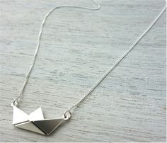 Paper Boat Necklace