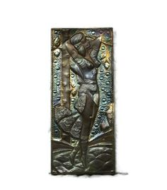 Exotic wall art beauty - Large embossed brass copper wall hanging - Vintage tribal metal repousse - African Moroccan desert relief on Wanelo Copper Wall, 3d Wall Art, Metal Art, Moroccan, Exotic, Deserts, Miniatures, Clock, African