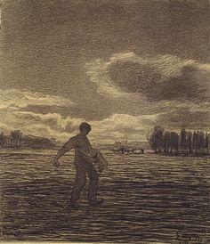 Giovanni Segantini. (1858 - 1899) Drawings.