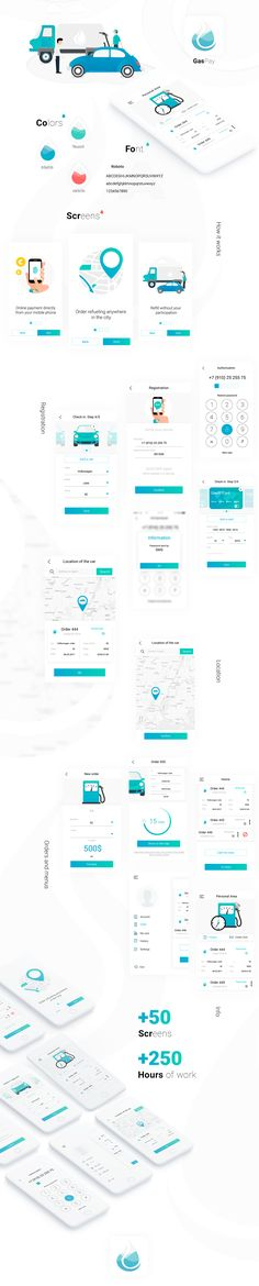 Design mobile app for the network of gas stations on Behance
