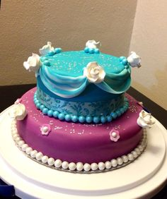 Blue and purple cake