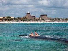 If you can't survive Spring Break without a beach,  the beach of Hotel Bahía Príncipe, Quintana Roo, Mexico, is gorgeous.