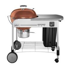 Weber Performer Gold 22 1 2 In Charcoal Grill In Copper 1432001 The Home Depot Best Charcoal Grill Charcoal Grill Charcoal Bbq