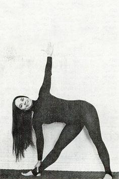 1977: Judith Lasater demonstrating #yoga