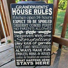 Love this as a gift for Grammy & Grandpop!