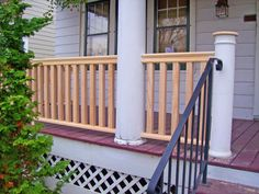 Architecturally Correct Porch Railing & Spindles delivered to jobsite Front Porch Railings, Outdoor Rooms, Outdoor Decor, Craftsman Style, Curb Appeal, Porch Ideas, Outdoor Structures, House Design, House Exteriors