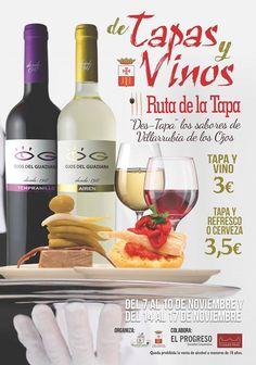 III Ruta de la tapa - Actualidad Villarrubia de los Ojos Tapas, Wine, Drinks, Bottle, Eyes, Drinking, Beverages, Flask, Drink