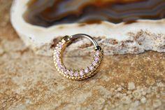 Gold Pink Septum Ring Clicker https://www.etsy.com/listing/220306418/round-septum-ring-clicker-gold-pink