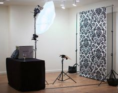 We can use any backdrop so long as it's wrinkle free, maybe gather a few fashionable sheets :) booth_setup2.jpg