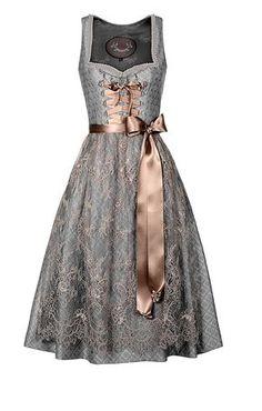 Dirndl gray lace and pink ribbon steampunk everyday Vintage Dresses, Nice Dresses, Vintage Outfits, Dresses For Work, Dirndl Dress, Lace Dress, Scarf Dress, Oktoberfest Outfit, Glamour