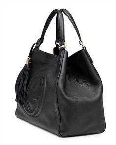 Gucci  Soho Leather Shoulder Bag, Black