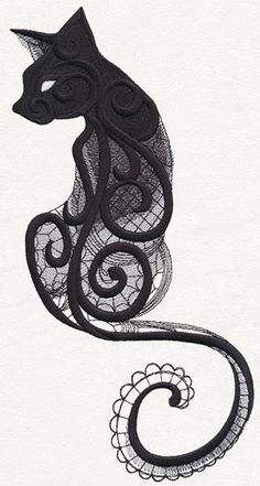 Dark Creatures - Cat - Thread List | Urban Threads: Unique and Awesome Embroidery Designs