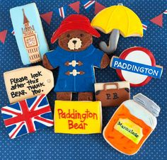 © Paddington Bear Cookies Plus Bear Birthday, Birthday Cookies, 2nd Birthday, Bear Cookies, Cute Cookies, First Birthday Parties, First Birthdays, London Theme Parties, Paddington Bear Party