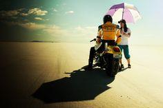 Bonneville Salt Flats 2010 - speed week, hiding from the sun