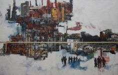 "Saatchi Art Artist Rico Jaime; Painting, ""Desierto Urbano, Urban Desert"" #art"