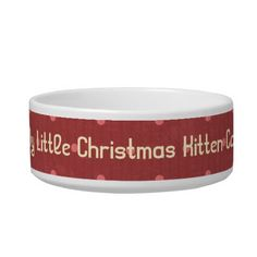 Christmas 1 : Little Red Dots Pet Dish Cat Water Bowls