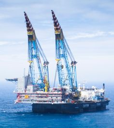 The world's second largest crane vessel was contracted this week by Statoil to lift and transport the 10,600 ton topsides module into position atop the Gudrun jacket in the Norwegian North Sea