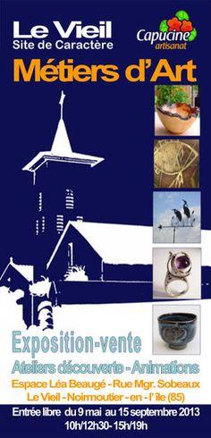 Exposition-vente, métiers d'art. Du 9 mai au 15 septembre 2013 à Noirmoutier en L'Ile.