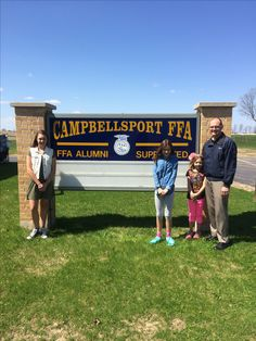 Excited to be attending the Annual Campbellsport FFA Banquet with Janet and the girls this afternoon... the kids love seeing the animals!  It was wonderful to learn how well the FFA youth work with, and help to beautify, the community with their greenhouse planters also.  #WIAgriculture #WIFFA