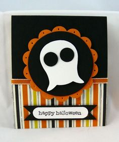 handmade Halloween Treat Holder ... could be a card front ... luv the funny little ghost made with the body of the owl punch ... Stampin' Up!