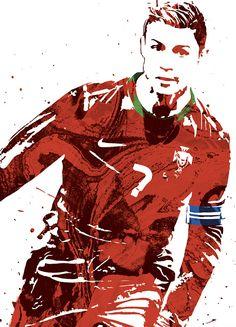 Cristiano Ronaldo Portugal World Cup Soccer Poster Sports Art