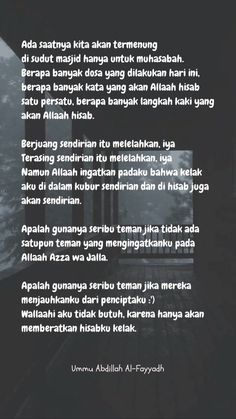 Like Quotes, Reminder Quotes, Self Reminder, Daily Reminder, Best Quotes, Islamic Inspirational Quotes, Islamic Quotes, Lonely Quotes, Quotes Galau