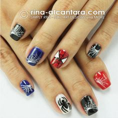 This Spiderman nail art has our Spidey senses tingling!