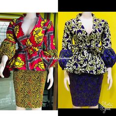 Amazing skirt and blouse styles and designs you'd love African Fashion Skirts, African Print Fashion, Africa Fashion, African Attire, African Wear, African Dress, Ankara Styles For Women, African Blouses, Ankara Skirt And Blouse