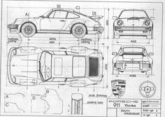 Porsche 911 turbo blue print