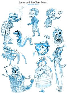 james and the giant peach characters.
