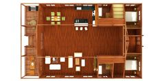 Large rectangular 2 bedroom model containing over-sized Great Room with high vaulted ceiling. Tropical House Design, Tropical Houses, Prefab Modular Homes, Wood House Design, Roof Sheathing, Wood Shingles, Forest Design, Roof Structure, Common Area