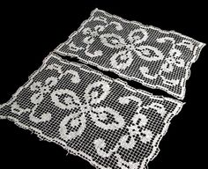 2 Doilies Lacis /Darned Net / Rectangles by FragmentsAnotherTime, $6.00