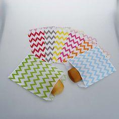 Chevron Craft Paper Food Favor Bags (More Colors)-Set of 25 – EUR € 3.09