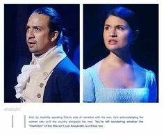 Lin-Manuel Miranda (Alexander) and Phillipa Soo (Eliza) are perfect Hamilton musical Hamilton Musical, Hamilton Broadway, Theatre Geek, Musical Theatre, Overwatch, Hamilton Lin Manuel Miranda, The Rocky Horror Picture Show, Into The West, And Peggy
