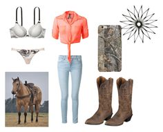 """""""Untitled #148"""" by horses4ever1322 on Polyvore featuring Frame Denim and Ariat"""