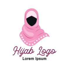 Hijab logo with text space for your slogan / tag line vector illustration PNG and Vector Background Banner, Background Templates, Hijab Logo, Textile Logo, Boutique Logo, Text Effects, Pictogram, Cartoon Styles, Vector File