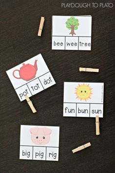 I love these word family clip cards!
