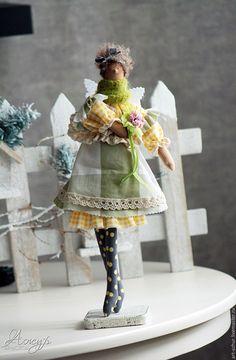 Купить Тильда Гретхен в стиле Бохо-шик Ангел домашнего уюта - тильда, кукла Тильда