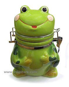 Happy Frog Hinged Jar