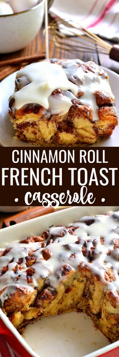 The ULTIMATE holiday breakfast! This French Toast Casserole is easy to make and always a hit with family and friends! The ULTIMATE holiday breakfast! This French Toast Casserole is easy to make and always a hit with family and friends! Cinnamon Roll French Toast, French Toast Bake, French Toast Casserole, Cinnamon Rolls, Breakfast Casserole, Breakfast Egg Muffins Cups, Breakfast Dessert, Delicious Breakfast Recipes, Brunch Recipes