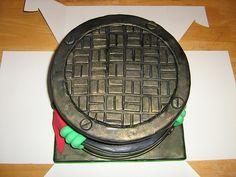 Ninja Turtle Cake - Raphael by mary fairy cakes, via Flickr 4th Birthday Parties, Boy Birthday, Birthday Ideas, Birthday Cake, Ninja Turtle Party, Ninja Turtles, Edible Glue, Fairy Cakes, Cake Board
