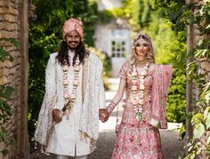 Hindu Wedding Ceremony, Wedding Sari, Wedding Attire, Wedding Outfits, Pink Wedding Theme, Pink Wedding Dresses, Indian American Weddings, Wedding Blessing, Wedding Planning Inspiration