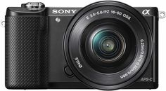 Sony - Alpha a5000 Mirrorless Camera with 16-50mm Retractable Lens - Black - Front Zoom
