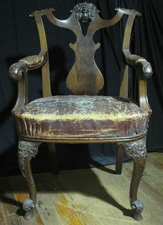 an antique Irish Chippendale chair
