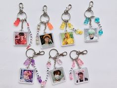 Cute Jewelry, Metal Jewelry, Beaded Jewelry, Kpop Diy, Mini Hoop Earrings, Cute Keychain, Bts Merch, Resin Crafts, Bts Wallpaper