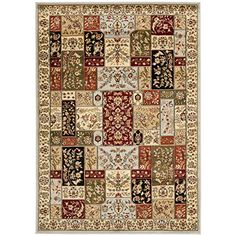 Safavieh Lyndhurst Collection LNH318G Grey and Multi Area Rug 5 feet 3 inches by 7 feet 6 inches 53 x 76 *** You can get more details by clicking on the image.