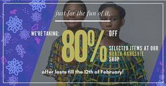 Its almost as though we're giving them away!  We've taken 80% off SELECTED ITEMS in our NORTH KANESHIE shop ONLY! Offer lasts from now till 12th February so make it count!  #Sale #alfiedesigns #buy #ghana #ghanaian #fabric #fashion #african #madeinghana #womensfashion #mensfashion #80 #slash #clearancesale #giveaway #new